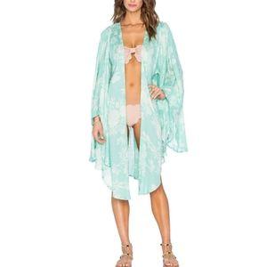 Amuse Society Sandrine Kimono Coasta Green REVOLVE